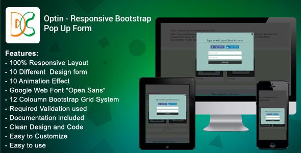 Download Optin - Responsive Bootstrap Pop Up Form nulled download