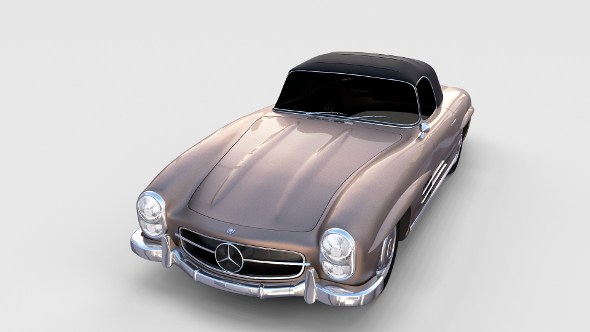 Mercedes 300SL Roadster Top Up rev - 3DOcean Item for Sale