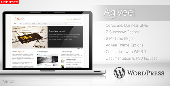 ThemeForest Agivee Corporate Business Wordpress Theme 89357