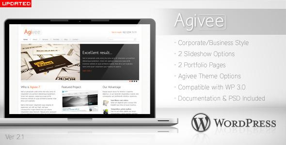 Agivee v2.1 – ThemeForest Corporate Business WordPress Theme