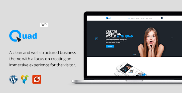 Download Quad - Modern Business WordPress Theme nulled download