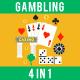 Gambling Casino Concept Set
