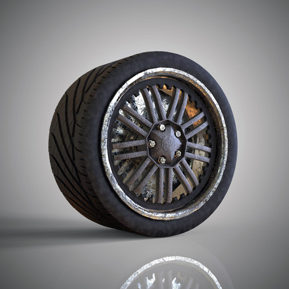 Dirt Tyre - 3DOcean Item for Sale