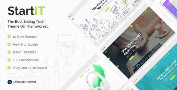 00 preview.  large preview - Startit - A Fresh Startup Business Theme