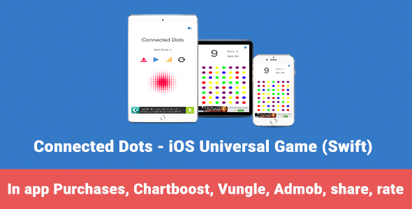 Download Connected Dots - iOS Universal Game (Swift) nulled download