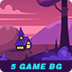 5 Game Seamless Backgrounds