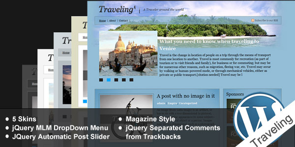 Traveling - A wordpress theme Magazine Styled