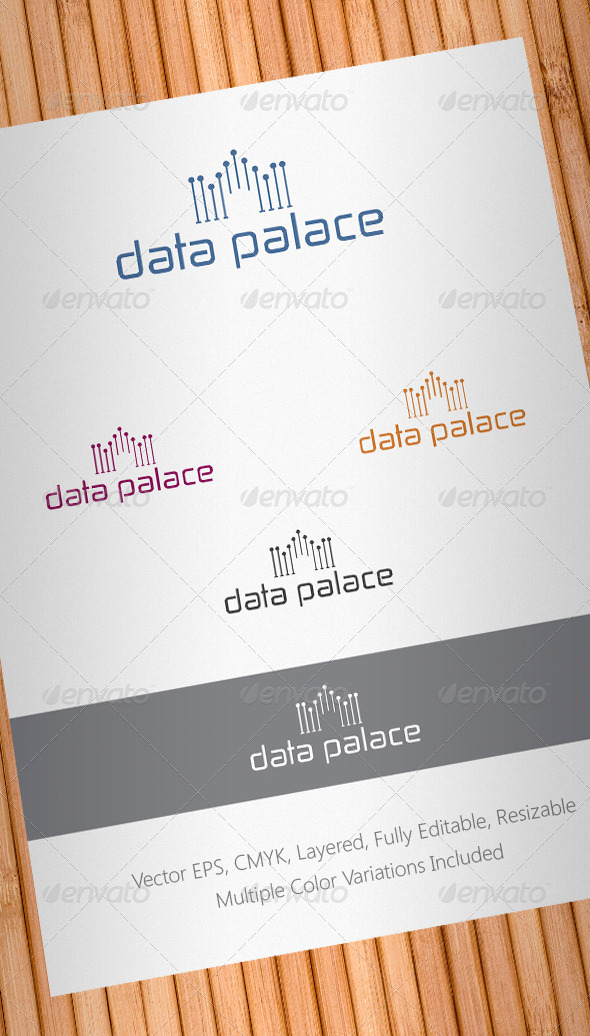 Data Palace Logo Template