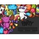 Carnival Party Kawaii Flayer. Cute Cats
