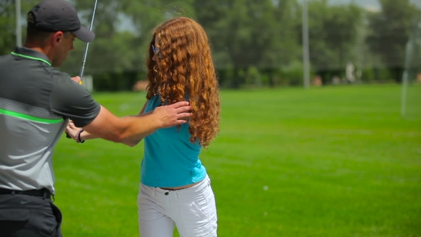 Download Woman Training Play Golf nulled download