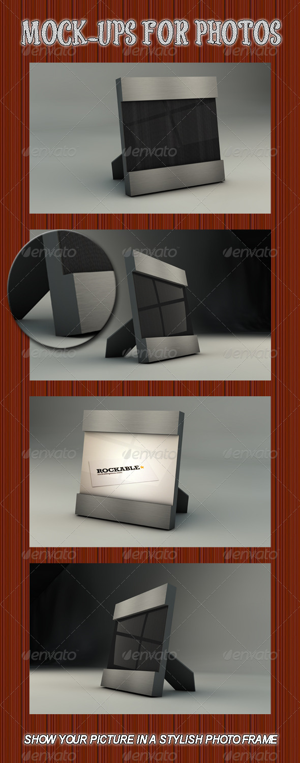 Photo Frame mock-up - Backgrounds Graphics