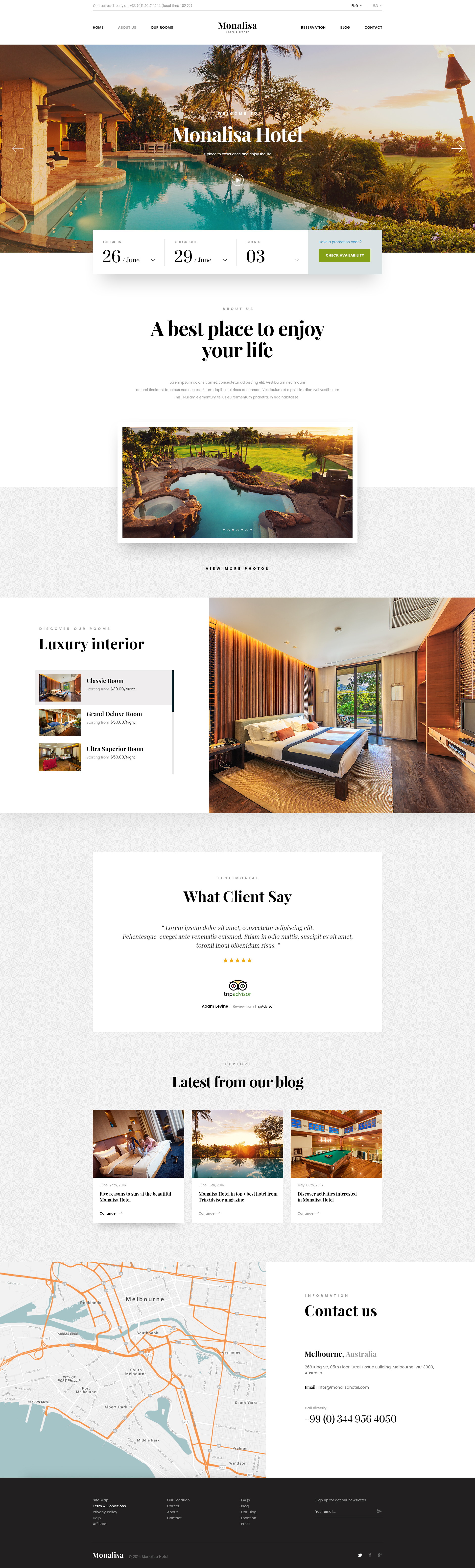 Monalisa premium booking hotel psd template psd templates for Hotel reservation design