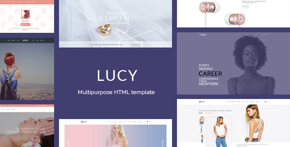 Lucy - Female readers focused multipurpose HTML template