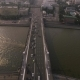 Krymsky Bridge Aerial View Car Traffic