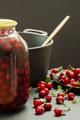 Cherries, recipes, home cooking, jar, pot, stove