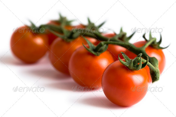 vine cherry tomatoes - Stock Photo - Images