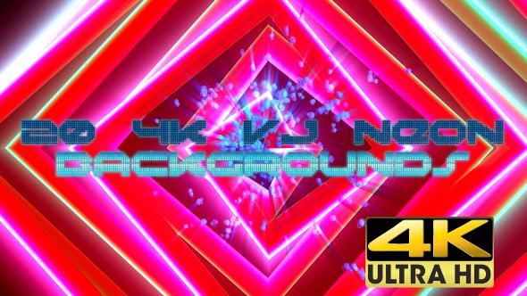 VideoHive VJ Neon Backgrounds Pack 4K 17332847