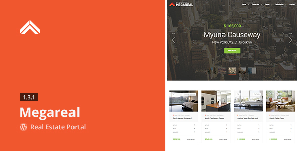 Megareal - Real Estate Portal WordPress Theme