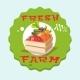 Box With Vegetable Harvest Eco Fresh Farm Logo