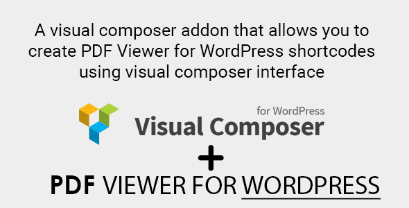 PDF Viewer for WordPress Visual Composer Addon - CodeCanyon Item for Sale