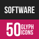 Software Development Glyph Inverted Icons