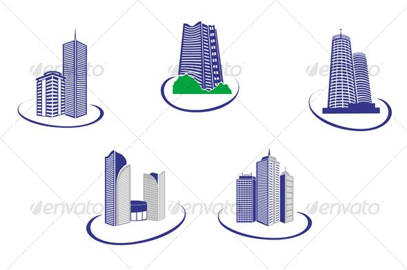 GraphicRiver Buildings symbols 67216
