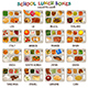 School Lunch Boxes Icons
