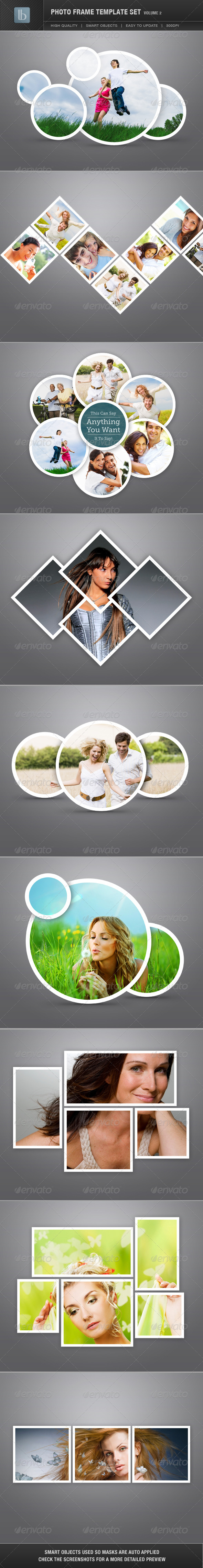 Photo Frame Template Set | Vol 2 - Photo Templates Graphics