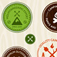 Retro Camping Labels - GraphicRiver Item for Sale