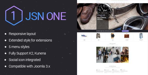 Image of JSN One-Responsive Joomla E-commerce Template