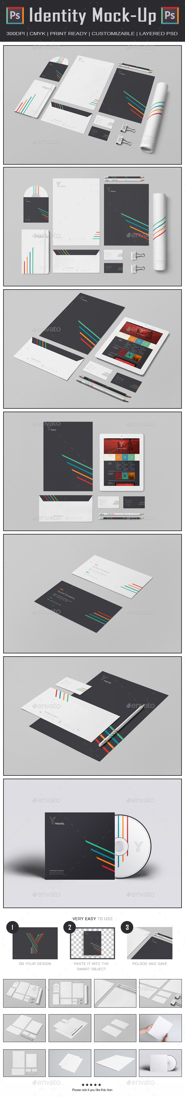 Branding Identity Mock Up III (Stationery)