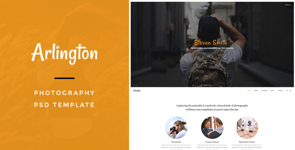 Arlington : Photography PSD Template