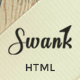 Swank - Creative One Page with Blog template