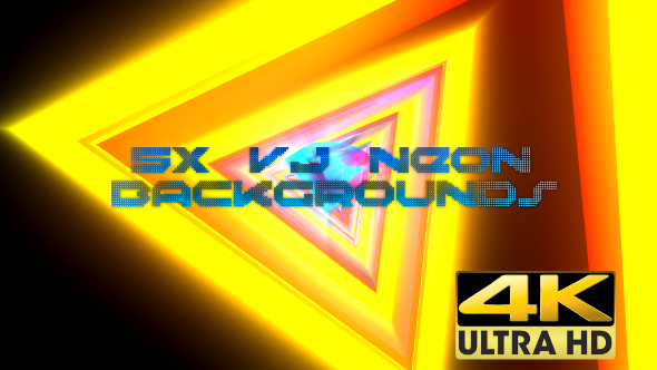 VideoHive VJ Neon Backgrounds Mini Pack 4K 17339655