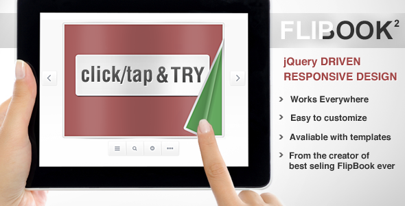 Responsive Flip Book powered by jQuery - CodeCanyon Item for Sale
