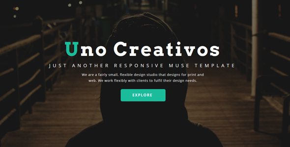 Uno - Creative One Page - Muse Template