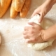 Kneading Dough In Flour On Table