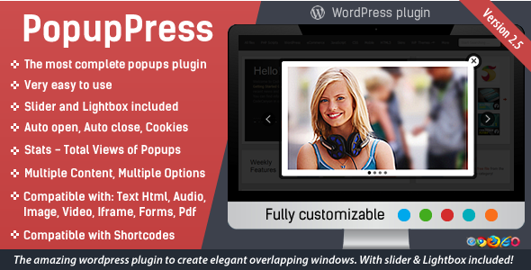 PopupPress - Popups with Slider & Lightbox for WordPress - CodeCanyon Item for Sale