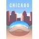 Chicago. Vector Poster.