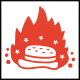 Hot Burger Logo