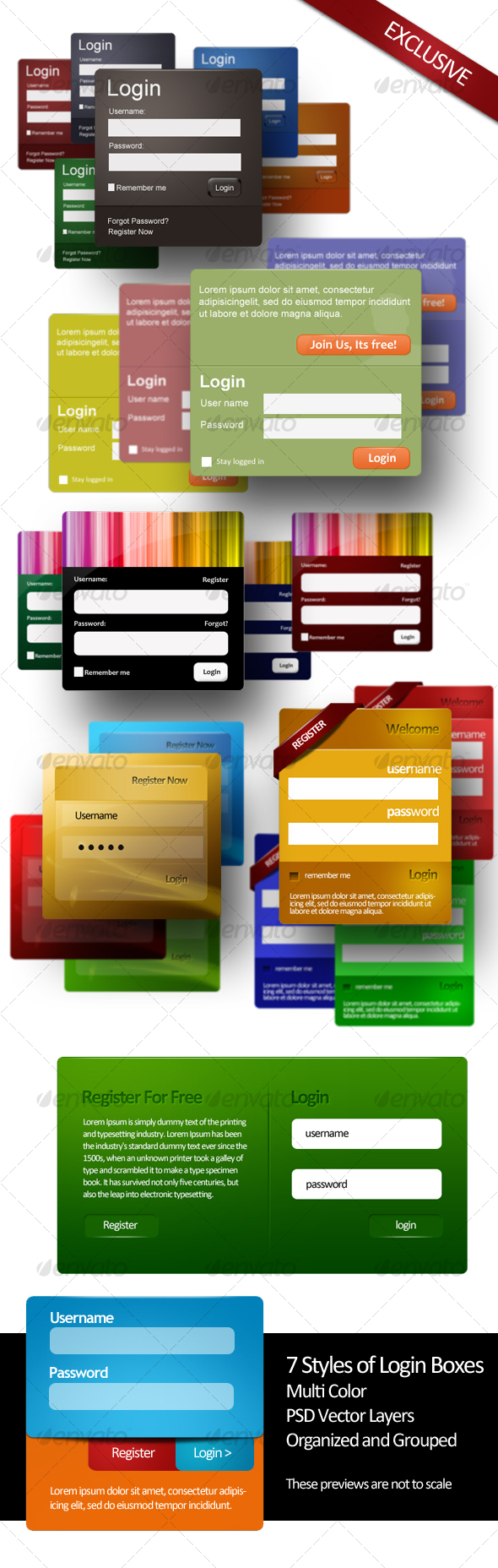 GraphicRiver 7 Login Styles 67264
