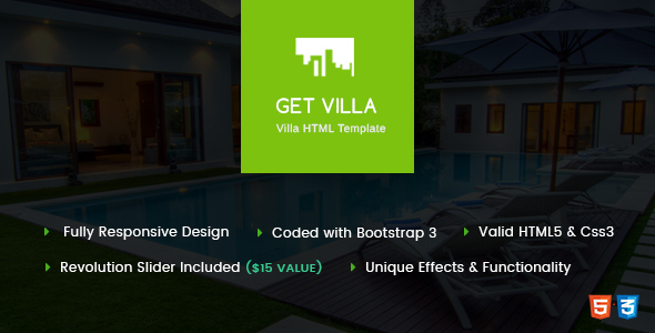 GetVilla - Single and Client Based Villa Booking HTML Template