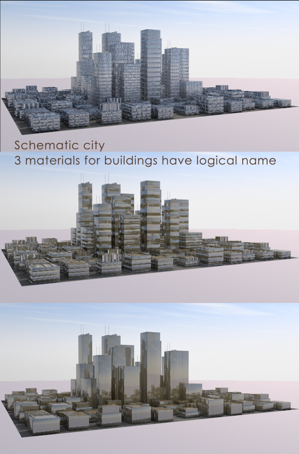 Simple city - 3DOcean Item for Sale