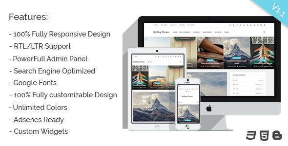 download myblog blogger responsive personal template wordpress themes html templates. Black Bedroom Furniture Sets. Home Design Ideas