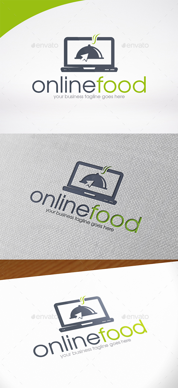 Online Food Logo Template