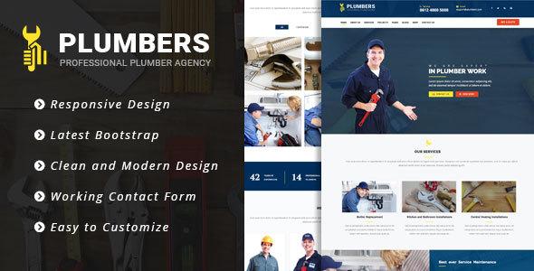 Plumbers - Plumbing, Repair & Construction Responsive Template