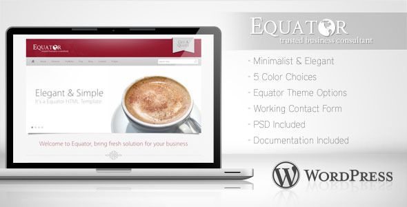 Equator - Minimalist Business Wordpress Theme 5 - Corporate WordPress