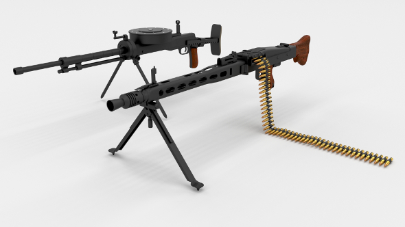WW2 Machine Gun Pack - 3DOcean Item for Sale