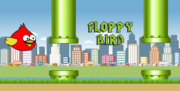 Download Floppy bird HTML5 canvas game nulled download