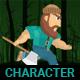 2D Lumberman Sprites Game Assets
